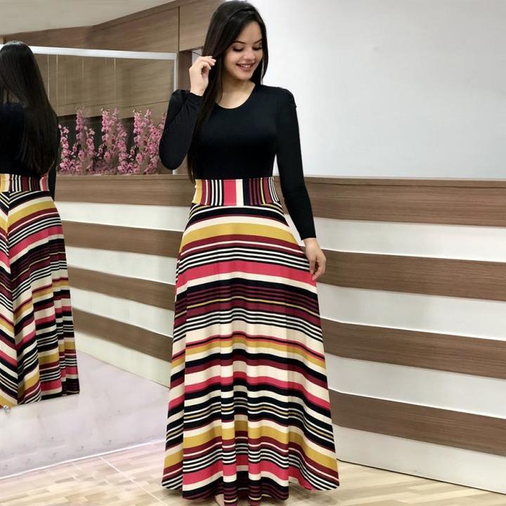 2019 Women Flower Printed Sexy Long/short sleeve dresses Ladies Dress s Long Sleeve colorful Stripe