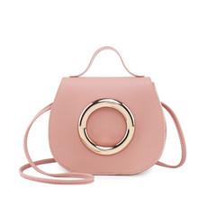 2019 New Women one shoulder oblique Small bag handbag pink Small