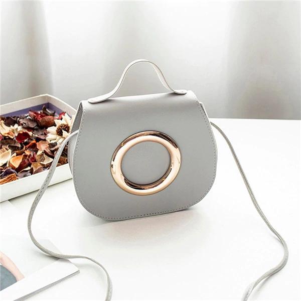 2019 New Women one shoulder oblique Small bag handbag grey Small