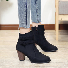 Women Boots High Heels Ladies Shoes Women Shoes Casual Shoes Autumn Comfortable Boots black 37