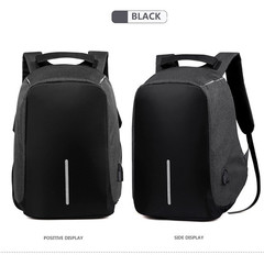 GIHG Anti-theft Bag Travel Backpack Large Capacity Business USB Charge Men Laptop Backpack  Bag black one size