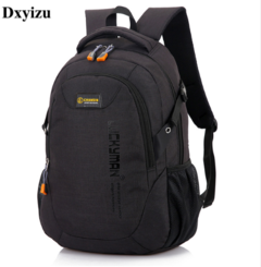 GIHG Unisex School Bag Waterproof Nylon Schoolbag Business  Bag Shoulder Bags Computer Packsack black 20-35 litre