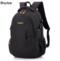 GIHG Unisex School Bag Waterproof Nylon Schoolbag Business  Bag Shoulder Bags Computer Packsack black 20-35 litre