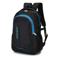 GIHG Men Backpack Business Men Laptop Bag Large Capacity Travel Backpack College Student School Bags blue 45cm* 32cm *16cm