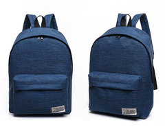 GIHG Classical Simple canvas Women Backpacks School bag for teenagers Student book Laptop Back pack dark blue 30*16*40CM
