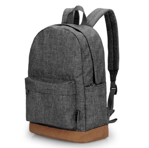 GIHG Men Canvas Backpack Casual Rucksacks Laptop Backpacks College Student School Bag Backpack gray one size
