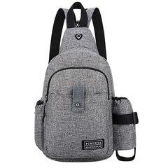 GIHG Men Backpack Oxford Shoulder Backpack Men Travel School Bag Backpack gray one size