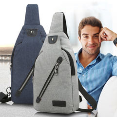 Men Canvas Outdoor Sport Sling Shoulder Small Bag Crossbody Chest Pack Backpack blue one size