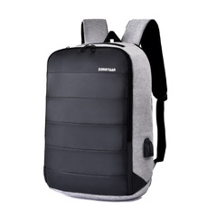 Large Capacity Usb Charging Business Men Backpack Waterproof Nylon Travel Backpack grey 30cm x 15cm x 45cm
