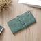 KIKO Women Wallets Matte Leather Wallet Female Coin Purse Wallet Card Holder Wristlet Money Bag green 18*9*2cm