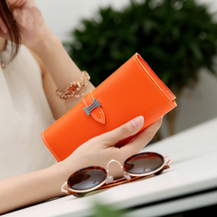 KIKO New Women's Wallet Korean Version Of The Tide Belt Large-capacity Fashion Multi-card Wallet orange 18.5*9*3cm