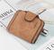 KIKO 2019 New ladies wallet buckle scrub leather purse cute small fresh student wallet brown 11.5*9.5*1.8cm