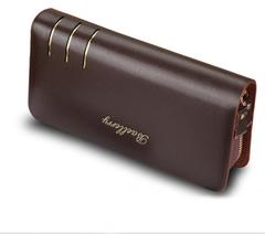 KIKO 2019 New Creative Clutch Bag Men's Wallet Long Double Handle Bag Factory Direct coffee 20.5*10.5*4cm