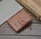 KIKO 2019 New Men's Wallet  Buckle Retro Wallet Multi-function Zipper Coin Purse brown 12*10*3cm