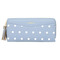 KIKO Women's Wallet Cute Dot Long Paragraph Clutch Bag Multi-function Zipper Tassel Phone Bag light blue 20*9.5*2.5cm
