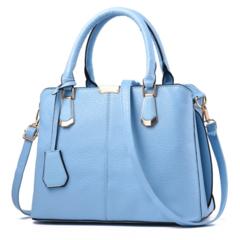 KIKO Classic Fashion OL PU women shoulder bag blue 30*14*22(cm)