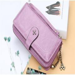Korean Fashion md-long women Clutch bag purple