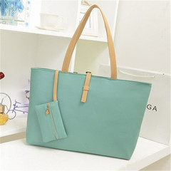 Korean Women's bags shoulder bag handbag OL blue 28*4*11(cm)