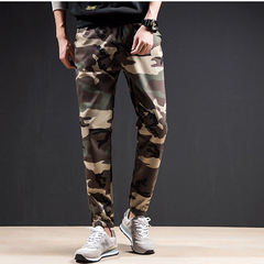 Mens Camouflage Trouser Long Pants Sport Traning Running Casual Pant Green Camouflage L