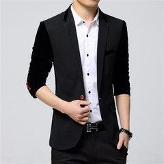 Men Blazers Fashion Masculine Blazer Men Slim Fit Suit Coats Blazer Jacket Dark Grey l