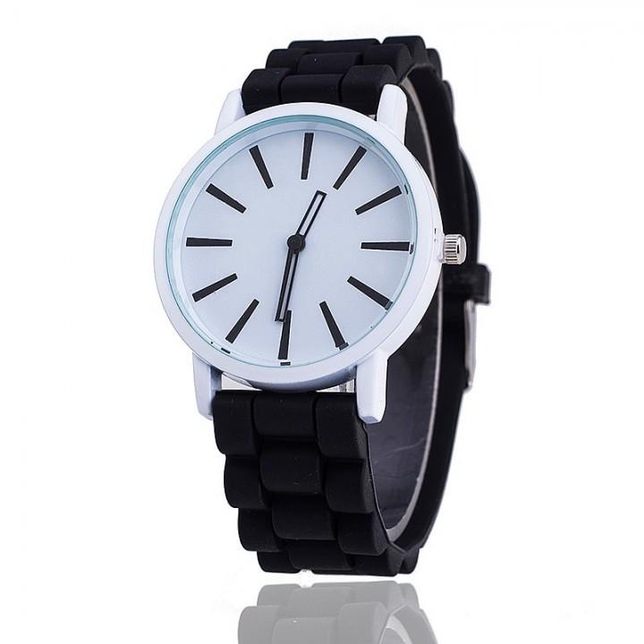 Fashion Women Silicone Watch Hot Casual Quartz Watch Ladies Wrist Watch black