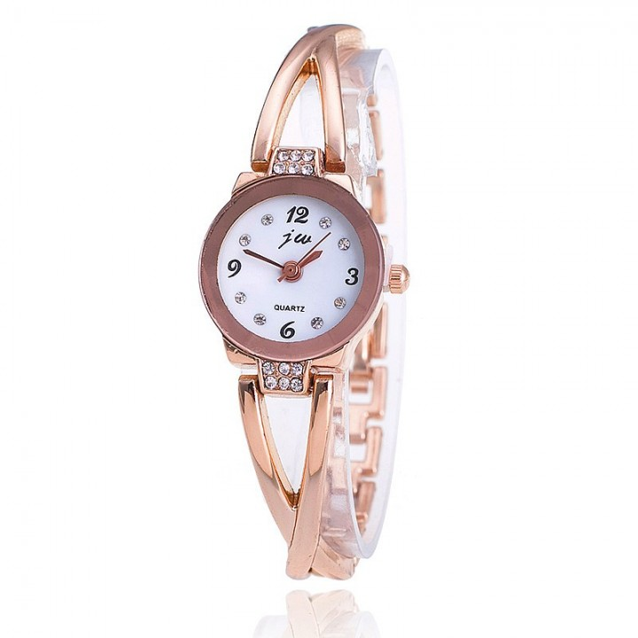 Women Rose Gold Round Dial Fashion Casual Women Wrist Watches Ladies Dress Watch Gold