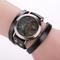 Hot Vintage Leather Strap Watches Antique Eiffel Tower Watch Women Fashion Quartz Watches black