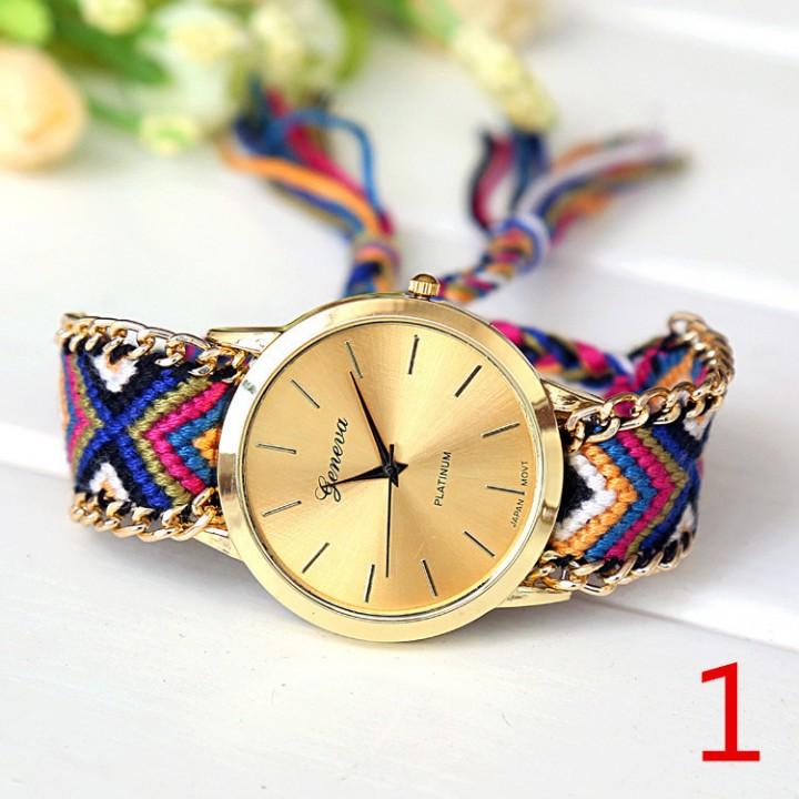 Braided Friendship Bracelet Watch New arrival geneva Hand-Woven wristwatch Ladies Quarzt 1