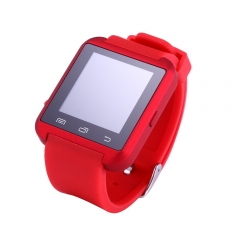 Bluetooth Smartwatch U8  Digital-watch Sport Bracelet Wristband for Android Phone Samsung iPhone red U8