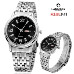 2017 New Fashion  Watch Steel Automatic Stylish Classic  Wristwatch waterproof watch Black