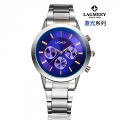 2017 New Fashion  Watch Steel Automatic Stylish Classic  Wristwatch waterproof watch Blue