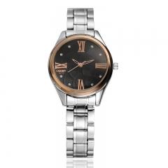 2017 New Fashion  Watch Steel Automatic Stylish Classic  Wristwatch waterproof watch Black