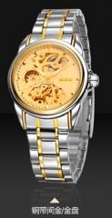 FOTINA Luxury Brand Orologio Automatico Meccanico di Scheletro Orologi Da Uomo Trasparente BOSCK NO.1