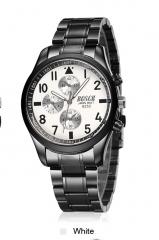 FOTINA Luxury Brand BOSCK Casuale Vigilanza Degli Uomini Dell'acciaio Inossidabile Del Quarzo NO.1