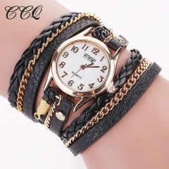 2016 Hot Sale Fashion Casual Wrist Watch Leather Bracelet Women Watches black