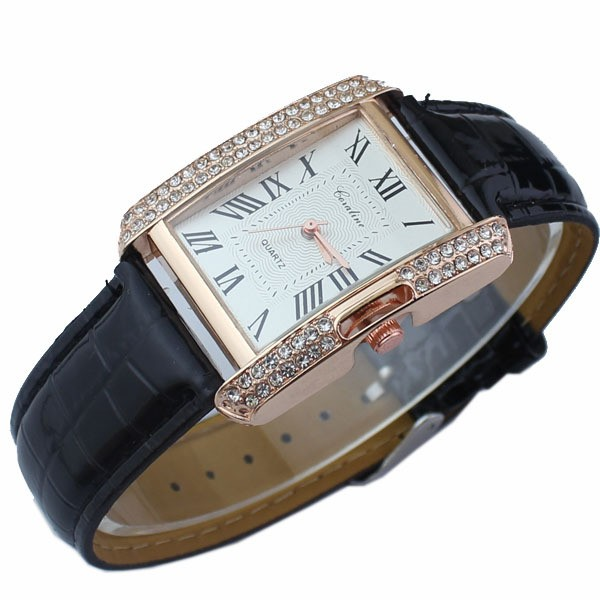 WONMEN watch Luxury Brand Watches  Quartz Clock Fashion belts Watch wristwatch waterpoor black