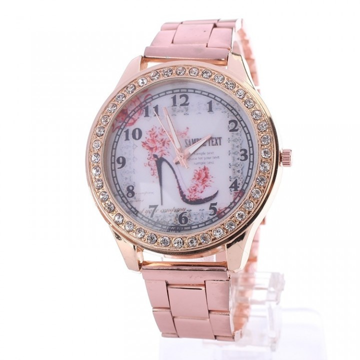 Women's T2H381 Easy Reader Two-Tone Stainless Steel Expansion Band Watch rose gold