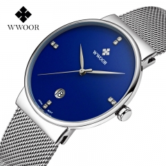 Fashion Luxury brand Watches men Stainless Steel Mesh strap Quartz watch NO.1