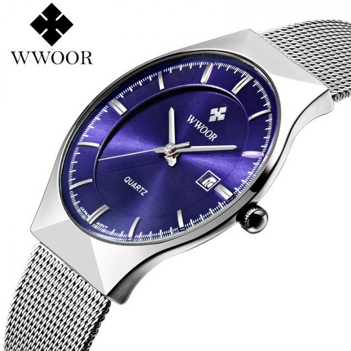 Luxury Watch Men Brand Men's Watches Ultra Thin Stainless Steel Mesh Band Quartz Wristwatch no.1