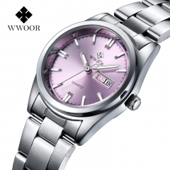 Stainless Steel Watch Ladies Fashion Casual Watch Quartz Wrist Women Watches 1