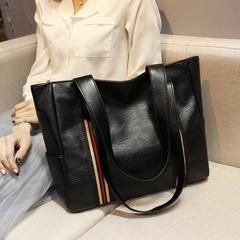New Women Black Bag One Shoulder Bag Handbag Big Bag black 35X10X29cm