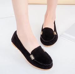 New Womens Candy Color Shoes Cute Slip on Ladies Shoes Ballet Flats Women Flat Casual Shoes black 35