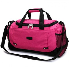 New Travel Bag Large Capacity Men Hand Luggage Travel Duffle Bags Nylon Weekend Bags rose 51*23*27cm
