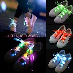 Shine LED 8 Color Change Luminescent Shoelace Club Party Luminous Glow green 0.8*120cm