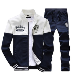 2019 new sports suit for boys and girls casual spring and autumn wear with fleece hoodie coat white M160