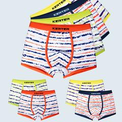 2Pcs/lot  New Boys Underpants Cotton Boxer Shorts Kids for Pants Stripe Fashion N31CL 110