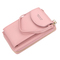 Women Wallet Clutch bag Pure color Small oblique spanning bag Mobile phone  M coin purse pink one size