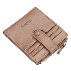 Men's Wallet Multi-function Multi-card position Retro-antiquity Originality purse Card Bag Jacket brown one size