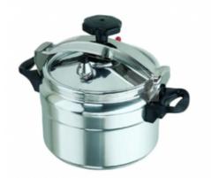 Non-explosive Pressure Cooker - black & silver 5 ltrs