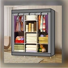 3 Columns Portable Wardrobe grey